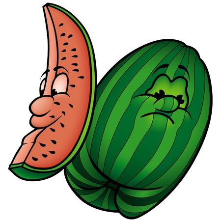 Melon - colored cartoon illustration as vector Vector