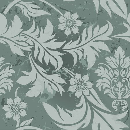 Gray Floral Pattern - decorative floral pattern as vector Stock Vector - 3577787