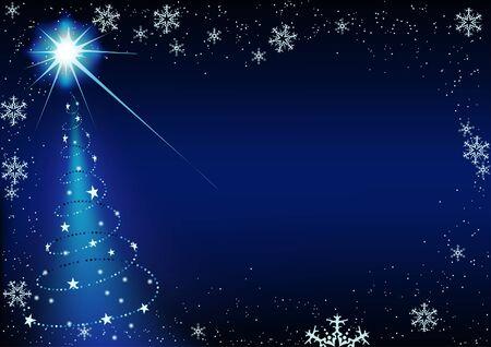 Blue Christmas Bckg 7 - background illustration as vector Stock Vector - 3606719