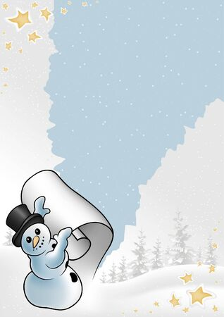rupture: Snowy Christmas 10 - background illustration as vector