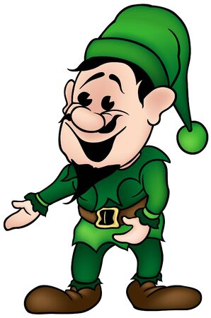 Green Dwarf - colored cartoon illustration as vector Stock Vector - 3990522