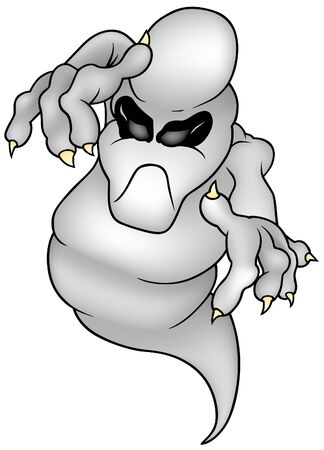 Ghost 02 - farbige Cartoon Illustration als Vektor Standard-Bild - 4035816