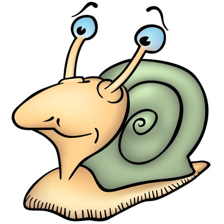 Snail Slimo - colored cartoon illustration as vector Stock Vector - 4122627