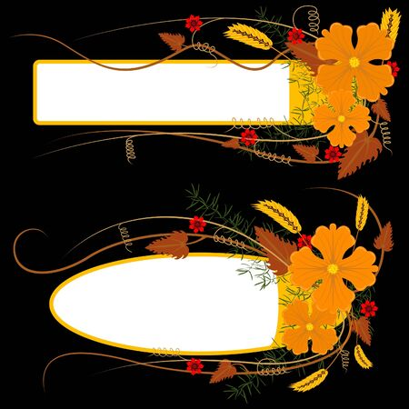Floral Banner 08 - colored illustration as vector Stock Vector - 4215640