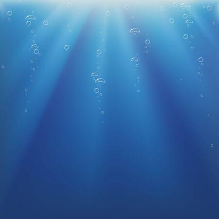 undersea: Luz subacu�tica y Burbujas - fondo como ilustraci�n vectorial