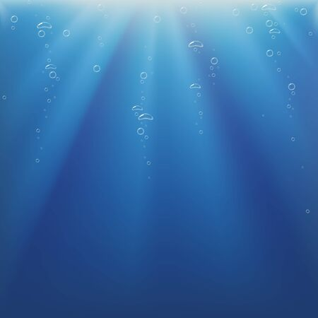 Underwater Light and Bubbles - background illustration as vector