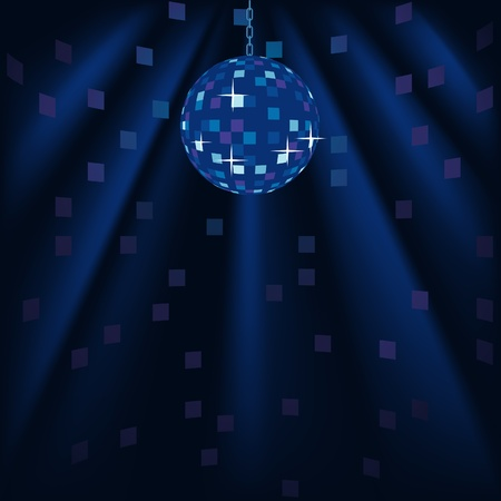 light reflex: Disco Background - colored illustration as vector