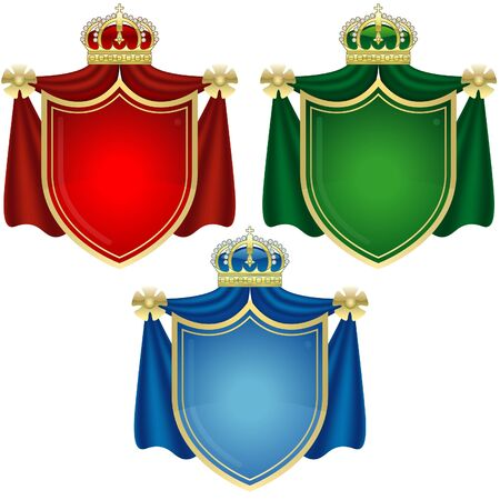 Coat of Arms Banners - colored illustration as vector Vector