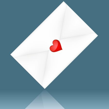 Love Letter - colored illustration as vector Stock Vector - 4525128