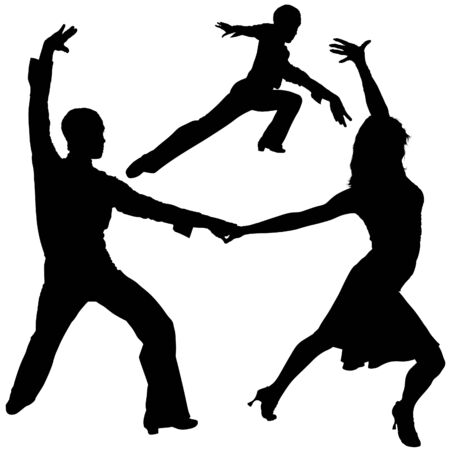 Latino Dance Silhouettes 07 - detailed illustrations as vector