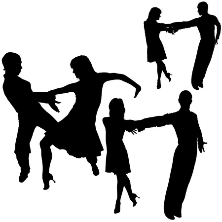 Latino Dance Silhouettes 12 - detailed illustrations as vector Vector