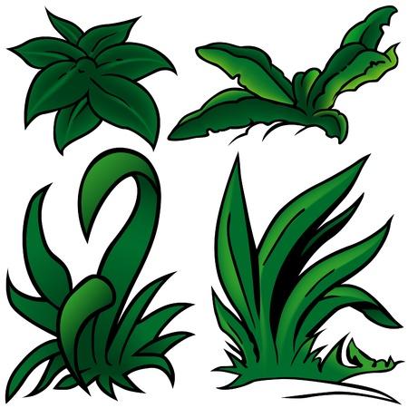 sward: Grass Set E - cartone colorato come illustrazione vettoriale