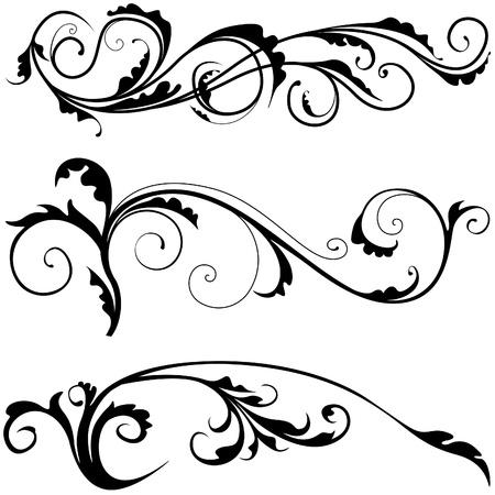 Floral decoration 03 - illustration as popular scroll vector Illusztráció