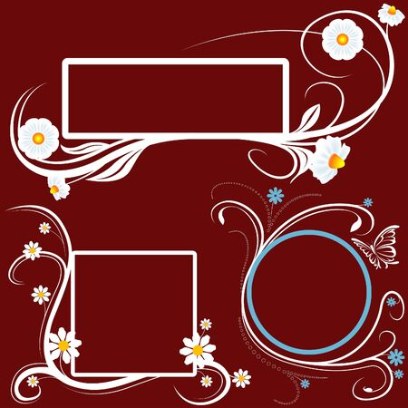 Floral Banners 03 - white banners as vector illustration Vector
