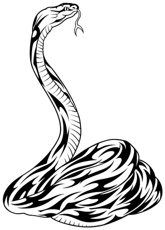 Snake - black illustration as vector image Stock Vector - 4763116