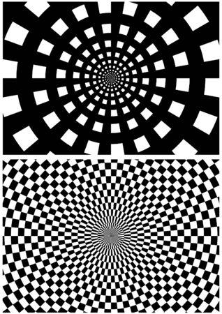 spheric: Checkered Textures 1 - geometrical spheric pattern