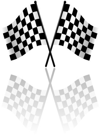 Checkered Flags 2 - colored illustration as vector Vector