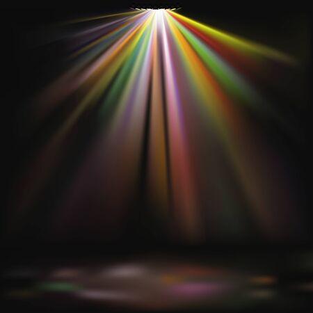 Disco lichten 01 - gedetailleerde gekleurde illustratie als vector achtergrond