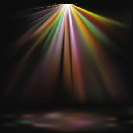Disco Lights 01 - detailed colored illustration as vector background