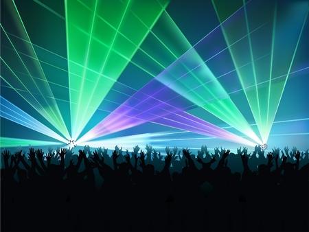 Luces Discoteca 02 - color ilustración con efectos láser como vector