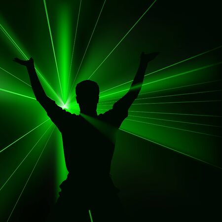 Disco Lights 03 - colored background illustration with laser effects as vector Illustration