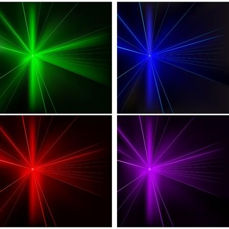 effet: Disco Lights 04 Set - illustration en couleur de fond avec effets laser comme vecteur Illustration