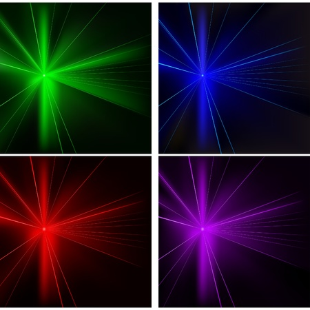 Disco Lights 04 Set - colored background illustration with laser effects as vector Illustration