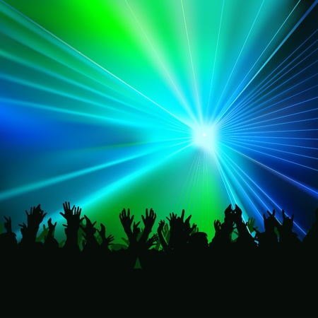Disco Lights 05 - colored background illustration with laser effect as vector