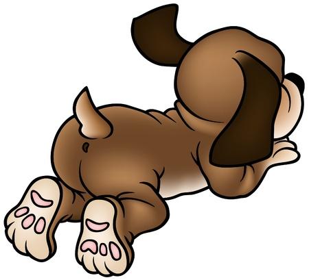 Puppy Dog - colored cartoon illustration as vector Stock Vector - 4982866