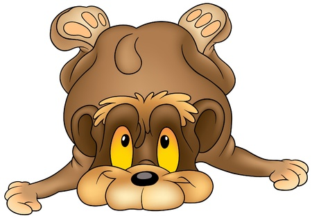 Falling Bear - colored cartoon illustration as vector Vector