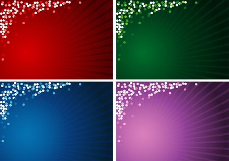 4x Christmas Background - christmas illustrations  Vector