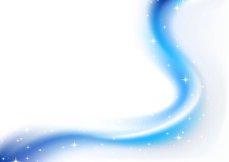 haze: Blue Abstract Christmas Haze and Stars - christmas illustration