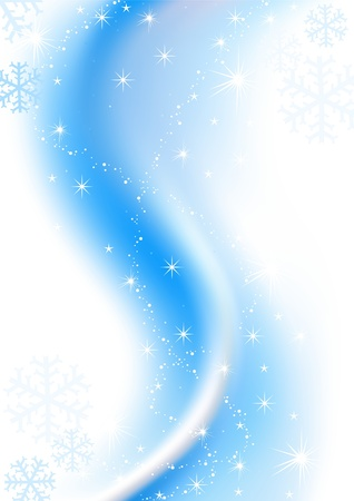 Blue Abstract Christmas - Frost Background - christmas illustration Stock Vector - 5491070