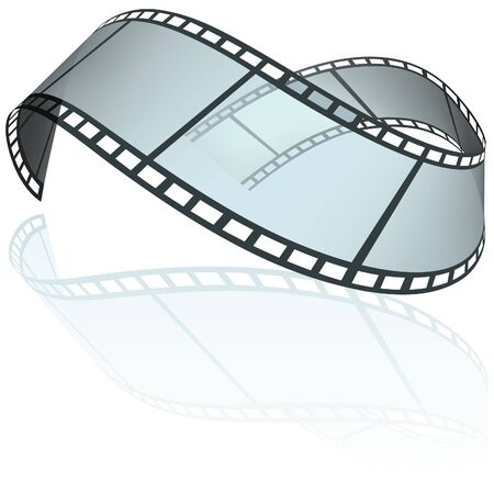 Filmstrip E - colored illustration as vector Vector