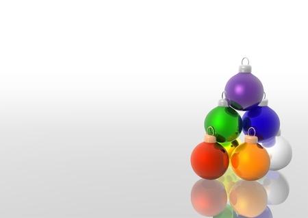 Colored Christmas Balls - christmas background illustration Stock Vector - 5588166