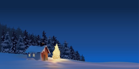 Great Christmas - holiday background illustration Çizim