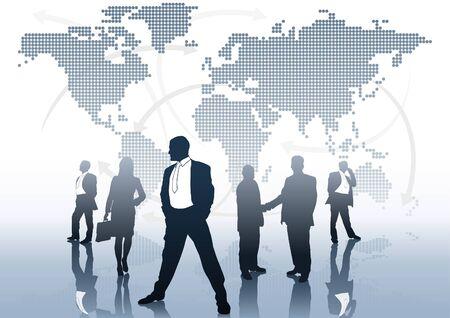 Commercio globale - sfondo del concetto di business