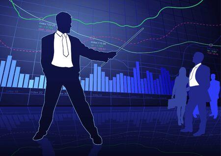 Business and Finance - business concept background Vektorové ilustrace