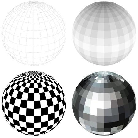 facet: Disco Ball - colored illustration,
