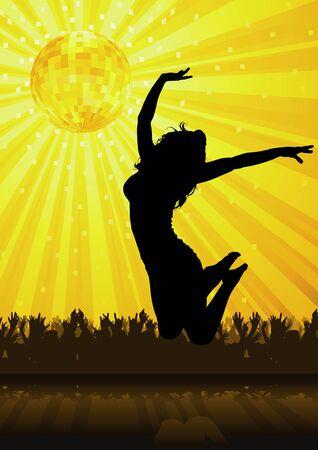 showgirls: Disco Party - background illustration