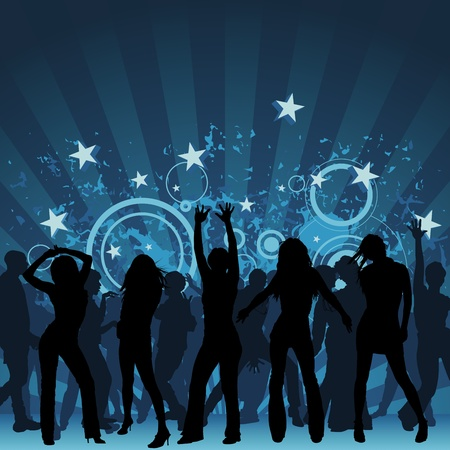 Clubbing - dance party background illustration