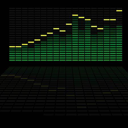 analyzer: LED Analyzer - colored background illustration,