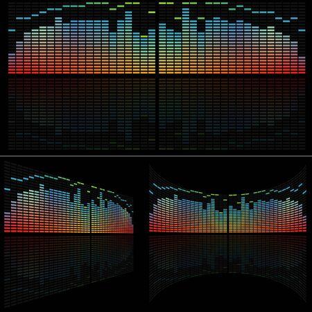 analyzer: LED Analyzer Set - colored background illustration, vector Illustration