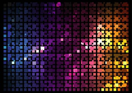 Mosaic - Disco effect - abstract background illustration, vector 矢量图像