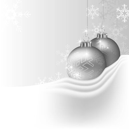 Silver Christmas Background - colored illustration
