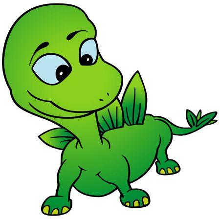 Green Dino Stock Vector - 8539532