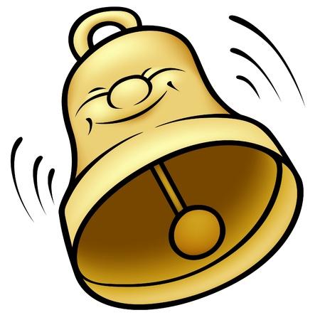 Golden Bell - colored cartoon illustration Stock Vector - 8597937