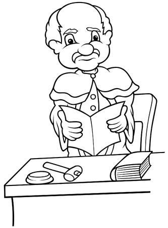 prosecutor: Giudice - bianco e nero fumetto illustrazione