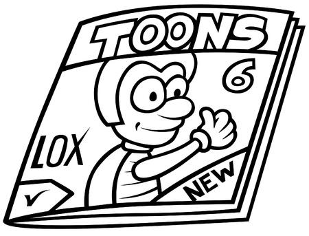 Magazine - Black and White Cartoon illustration, Vector Stock Vector - 8756221