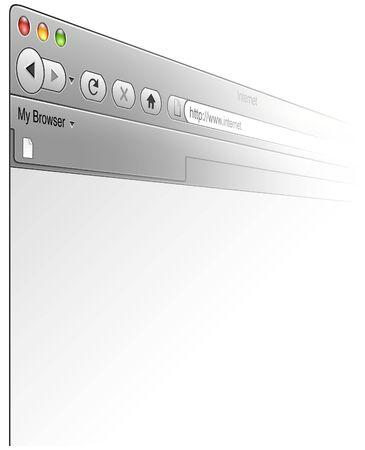 ブラウザー ウィンドウのカラー イラスト、ベクトル
